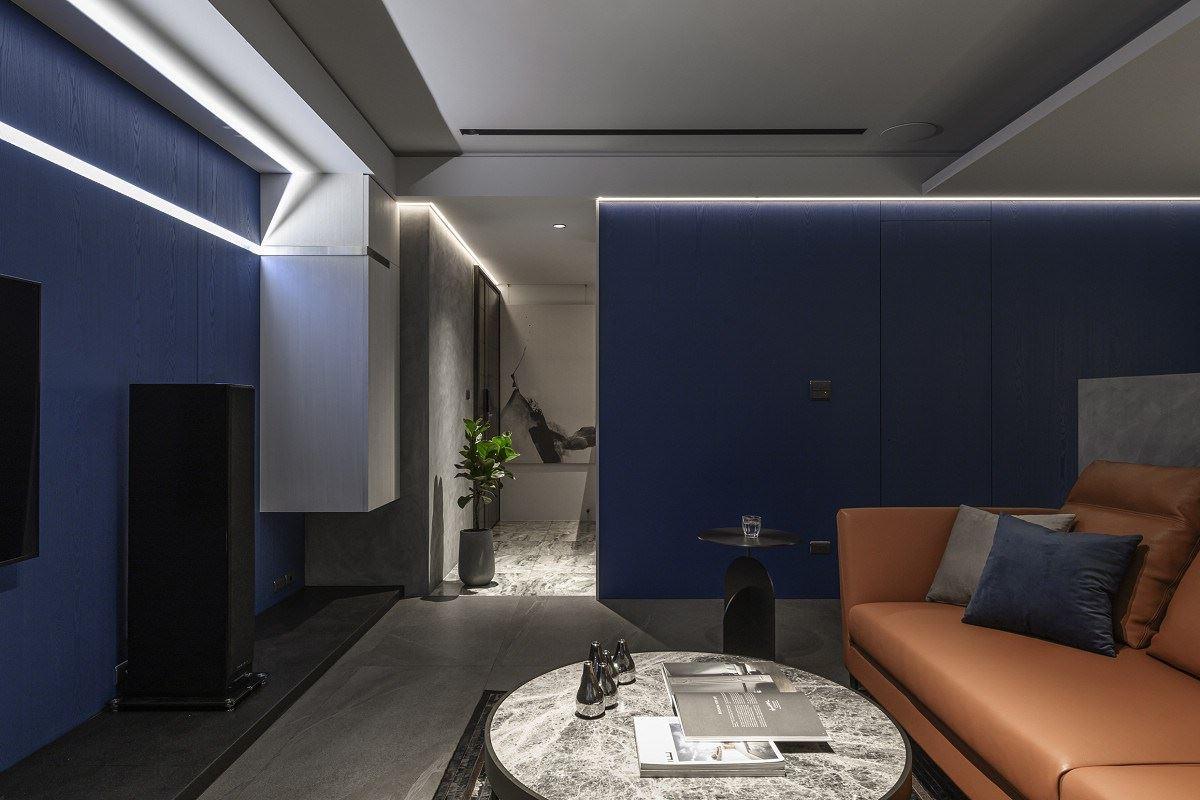 【Promote】邂逅個性藍 訂製35坪現代品味宅 逸喬設計公司 蔣孝琪