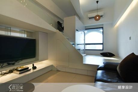 善用上下層次,8坪大小空間也能變出三房