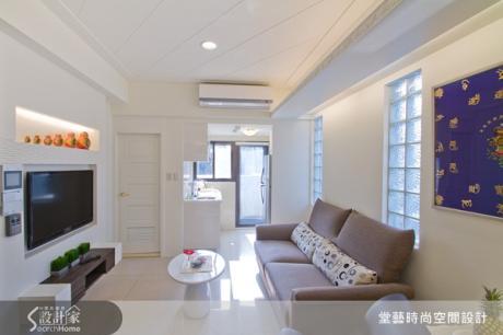 無絕對隔間的7坪明亮白色小豪宅裝修術