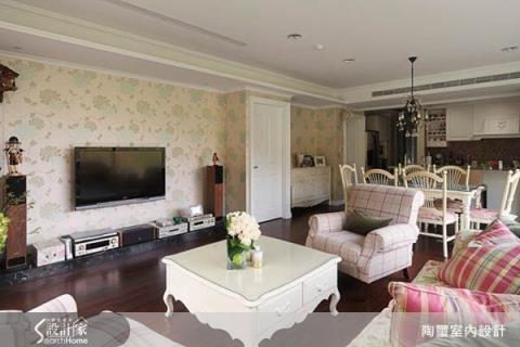 白色基調與鄉村風經典元素混搭出的英式恬靜優雅鄉村宅