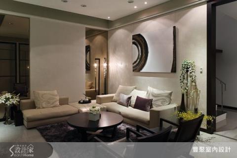 白色空間基調與木石鐵件玻璃異材質,共舞出舒適現代簡約宅