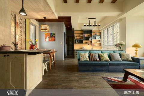 空氣流通、視野開闊,用藝術手感無毒建材,打造怡然自得的度假風家居