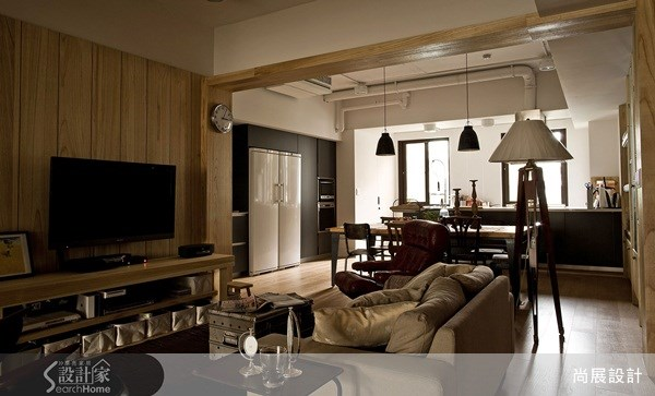 65坪中古屋(5~15年)_工業風客廳餐廳廚房案例圖片_尚展空間設計_尚展_31之3