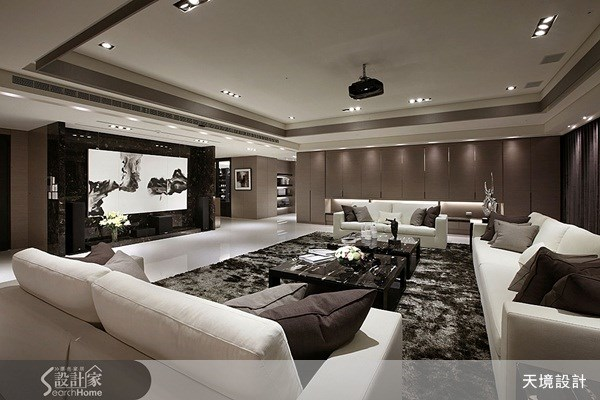 260坪新成屋(5年以下)_奢華風客廳案例圖片_天境空間設計_天境_10之2