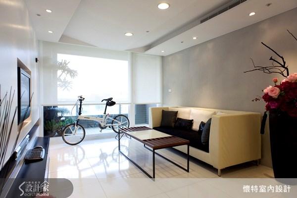 25坪新成屋(5年以下)_現代風客廳案例圖片_懷特室內設計_懷特_02之4