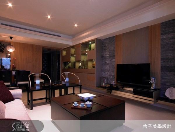 33坪新成屋(5年以下)_新中式風客廳案例圖片_舍子美學設計_舍子美學_06之1
