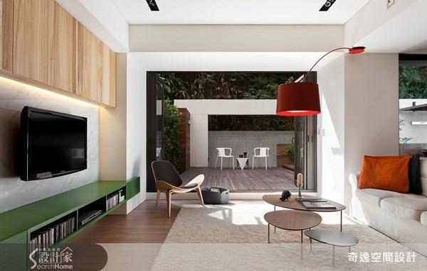 70坪新成屋(5年以下)_現代風客廳案例圖片_奇逸空間設計_奇逸_06之2