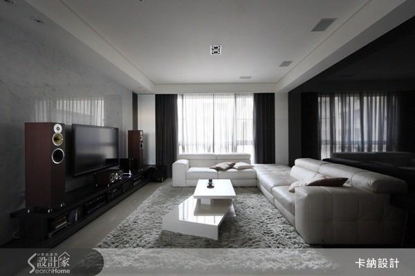 40坪新成屋(5年以下)_現代風客廳案例圖片_卡納文創/品納設計_卡納_01之4