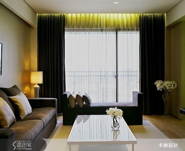 40坪新成屋(5年以下)_奢華風客廳案例圖片_卡納文創/品納設計_卡納_02之1