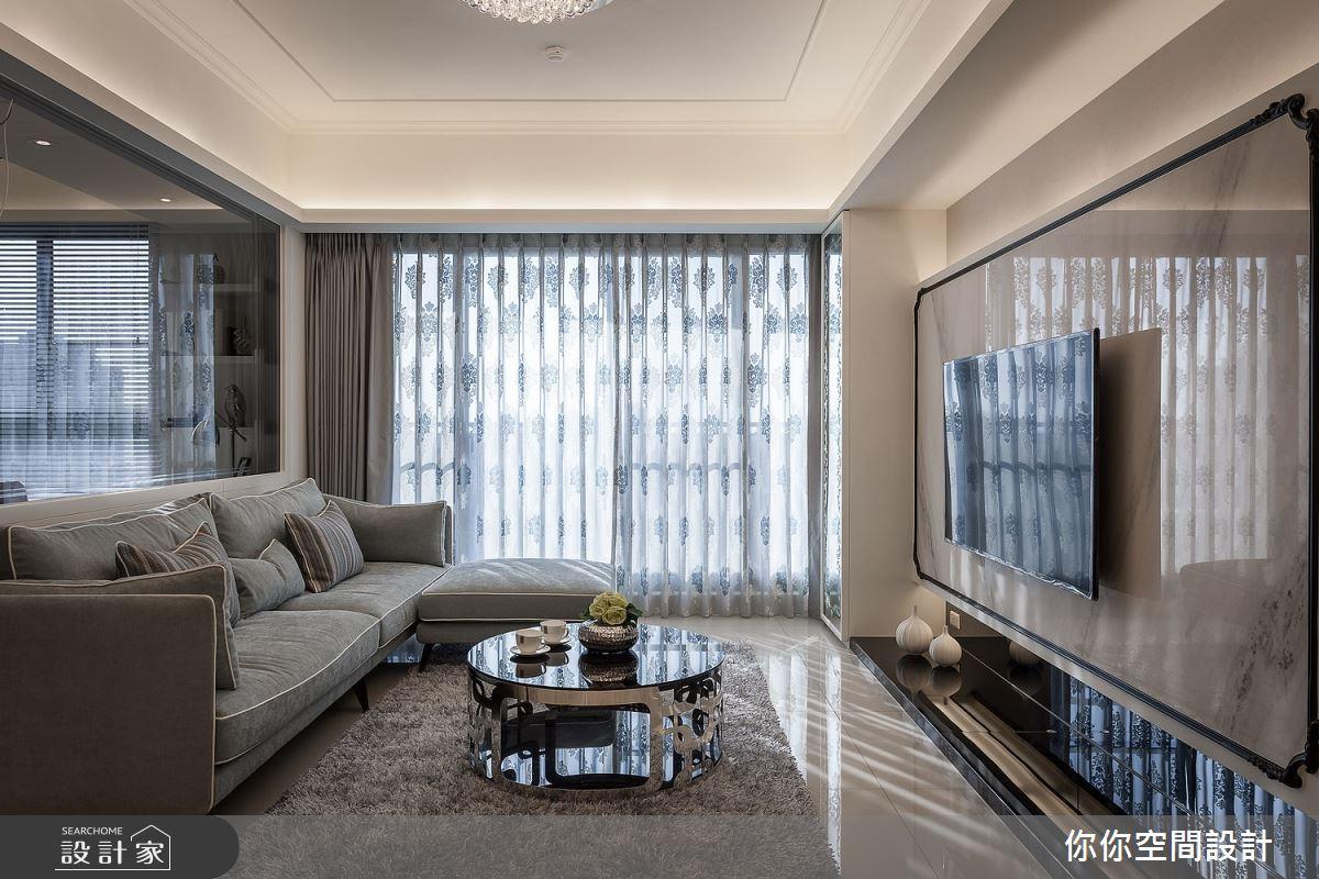 30坪新成屋(5年以下)_新古典客廳案例圖片_你你空間設計_你你_01之3