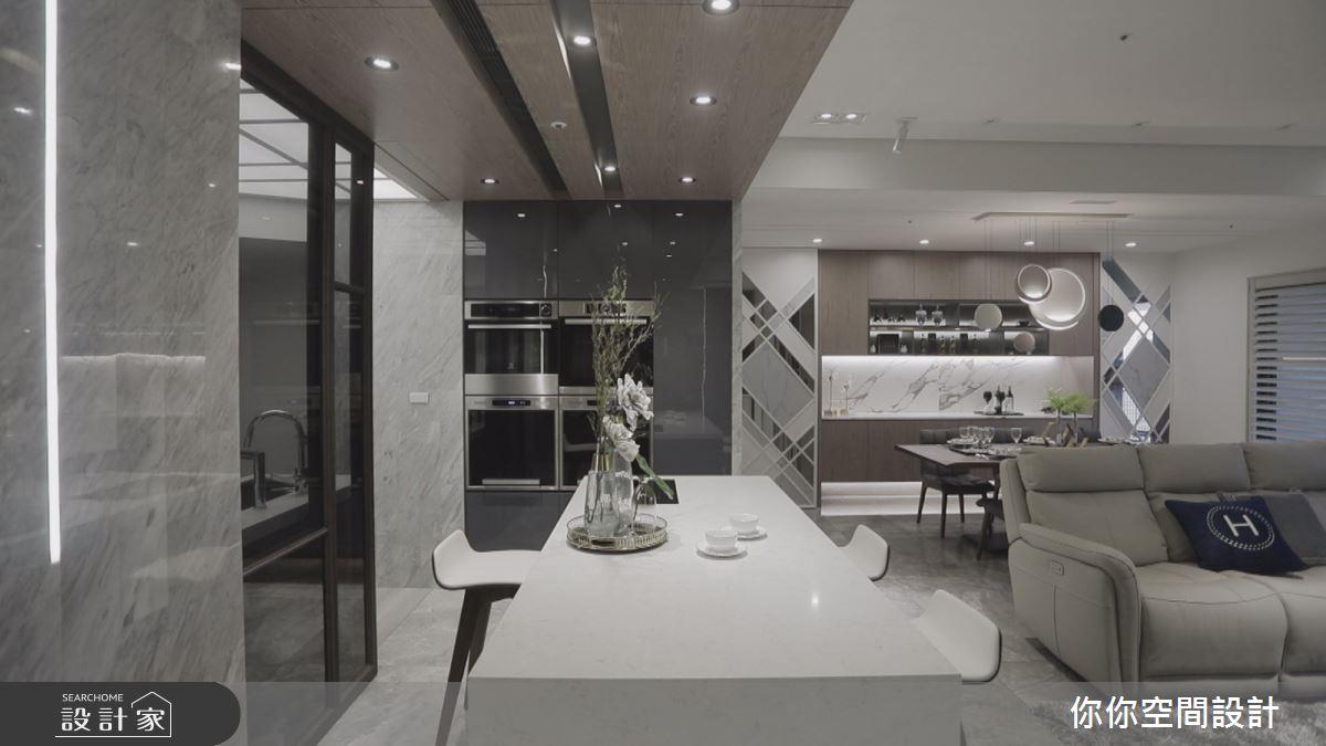 44坪新成屋(5年以下)_現代風吧檯案例圖片_你你空間設計_你你_10之3