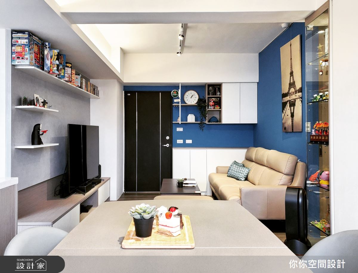 14坪老屋(31~40年)_混搭風客廳餐廳案例圖片_你你空間設計_你你_19之10