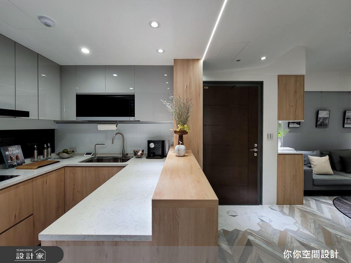 25坪中古屋(5~15年)_北歐風廚房案例圖片_你你空間設計_你你_22之4