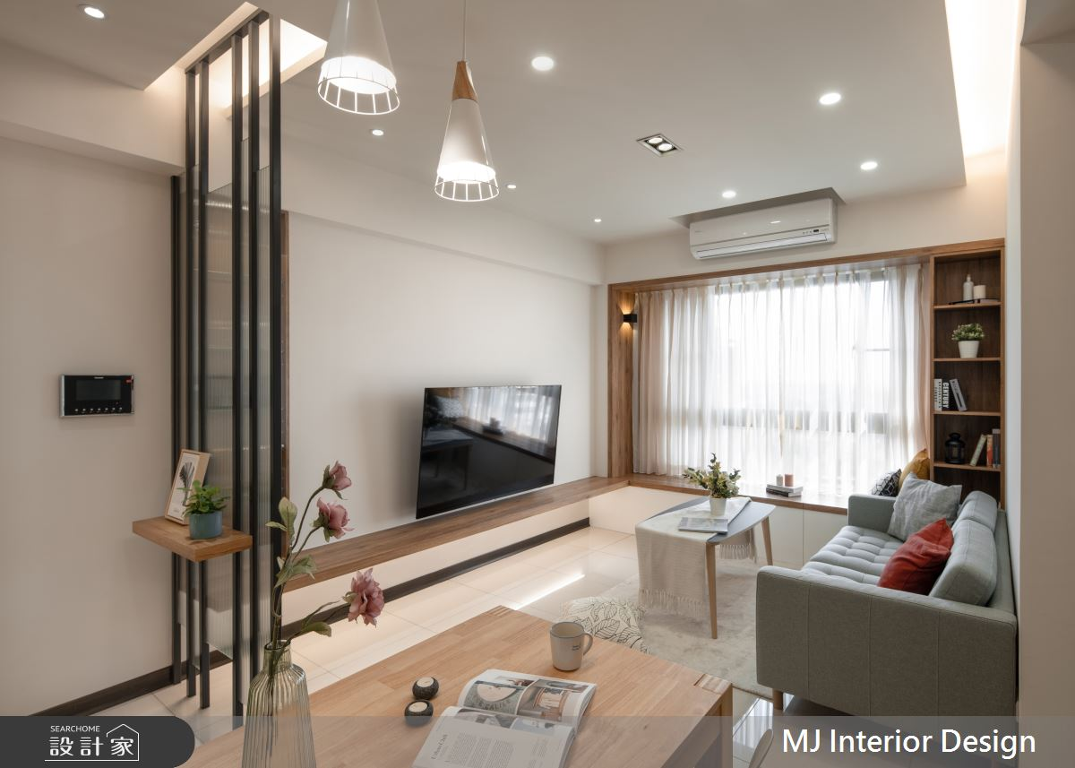 20坪新成屋(5年以下)_日式無印風客廳案例圖片_銘家室內設計_銘家_07之4