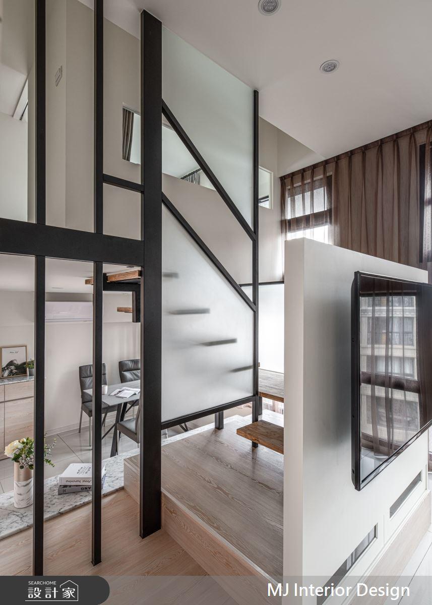 15坪新成屋(5年以下)_混搭風樓梯案例圖片_銘家室內設計_銘家_15之7