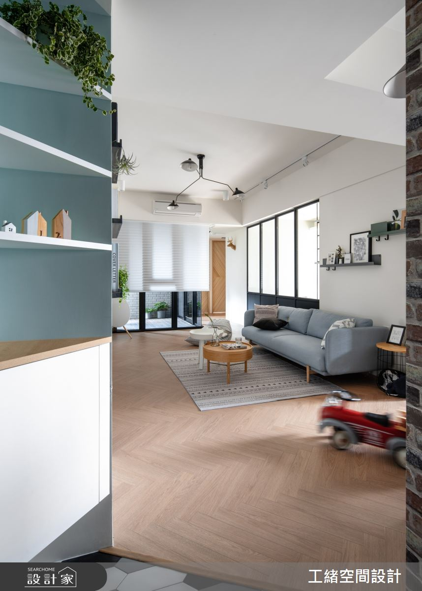 35坪新成屋(5年以下)_北歐風客廳案例圖片_工緒空間設計_工緒_10之2