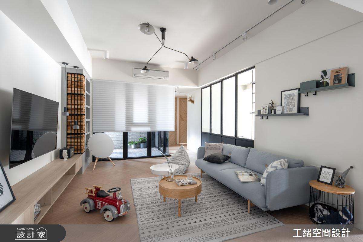 35坪新成屋(5年以下)_北歐風客廳案例圖片_工緒空間設計_工緒_10之3