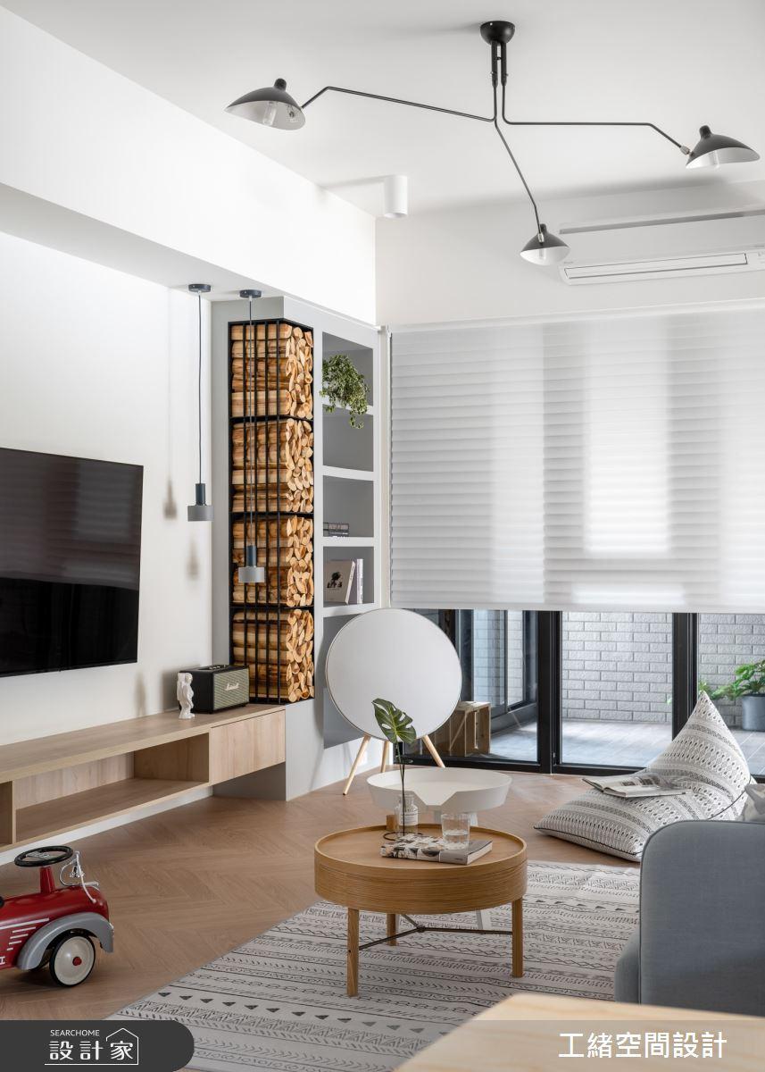 35坪新成屋(5年以下)_北歐風客廳案例圖片_工緒空間設計_工緒_10之4