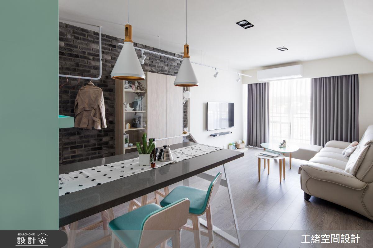 25坪新成屋(5年以下)_北歐風餐廳案例圖片_工緒空間設計_工緒_01之6