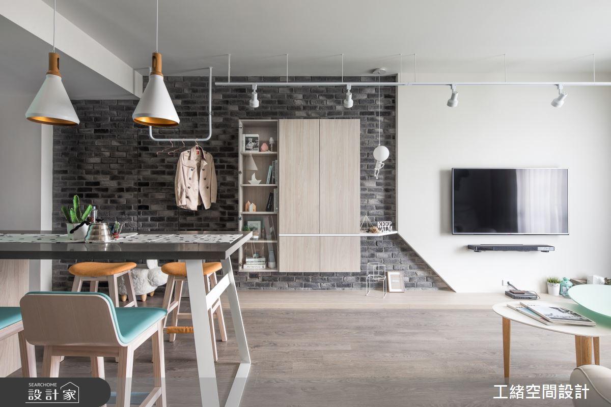25坪新成屋(5年以下)_北歐風餐廳案例圖片_工緒空間設計_工緒_01之7