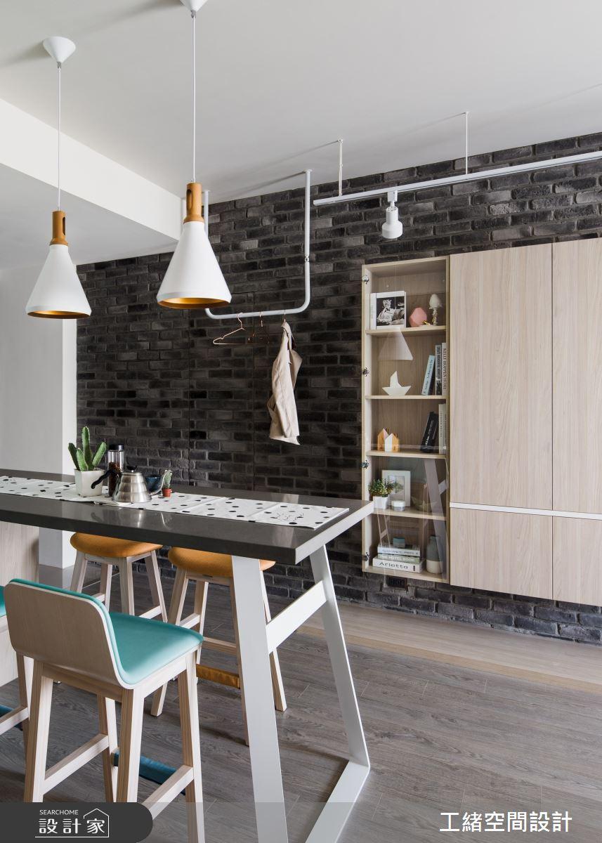 25坪新成屋(5年以下)_北歐風餐廳案例圖片_工緒空間設計_工緒_01之5