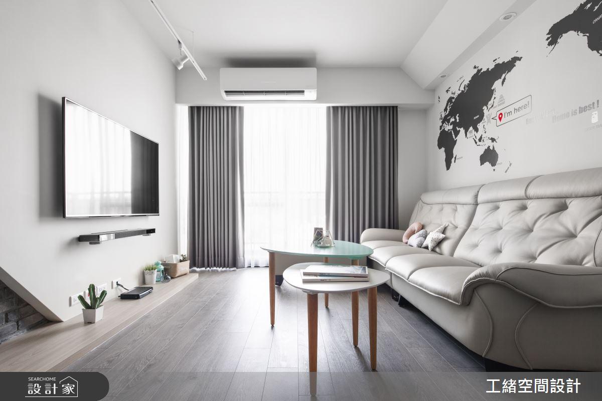 25坪新成屋(5年以下)_北歐風客廳案例圖片_工緒空間設計_工緒_01之12