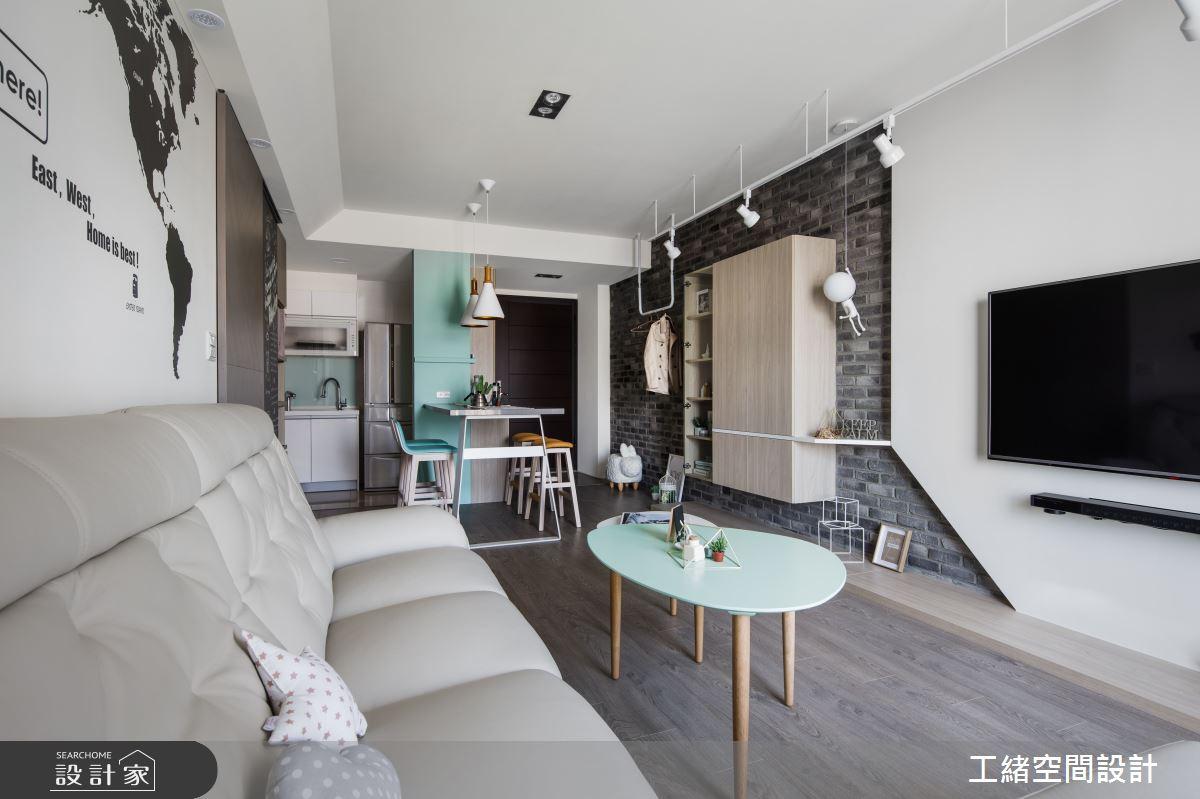 25坪新成屋(5年以下)_北歐風客廳案例圖片_工緒空間設計_工緒_01之11