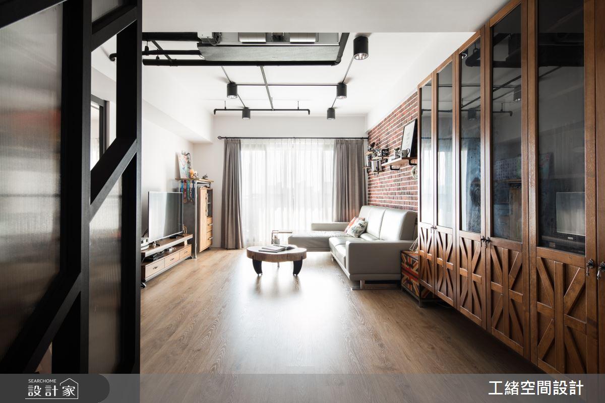 32坪新成屋(5年以下)_輕工業風客廳案例圖片_工緒空間設計_工緒_02之4