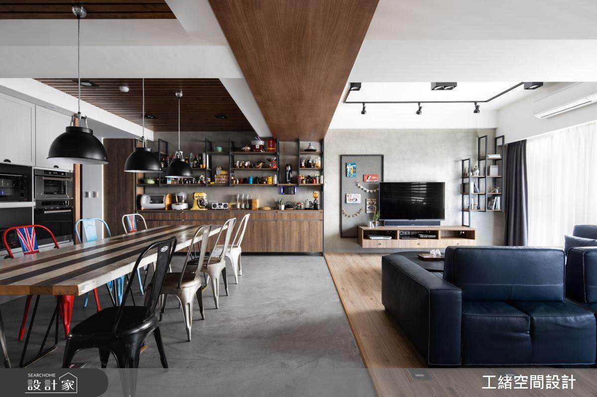 32坪新成屋(5年以下)_輕工業風餐廳案例圖片_工緒空間設計_工緒_05之3