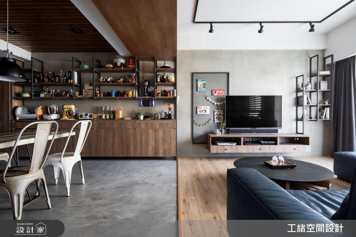 32坪新成屋(5年以下)_輕工業風客廳餐廳案例圖片_工緒空間設計_工緒_05之4