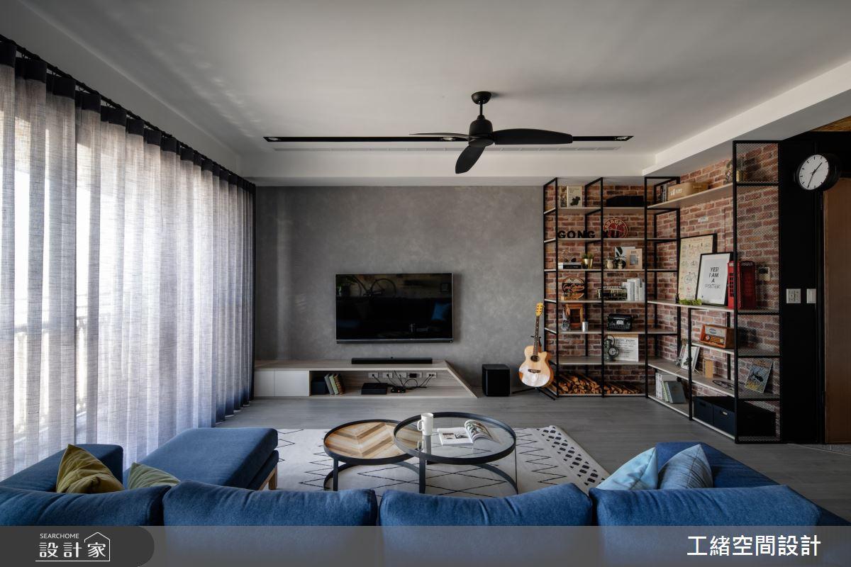 32坪新成屋(5年以下)_輕工業風客廳案例圖片_工緒空間設計_工緒_08之2