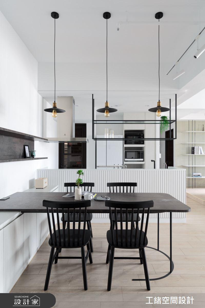 25坪新成屋(5年以下)_混搭風餐廳廚房吧檯案例圖片_工緒空間設計_工緒_15之2