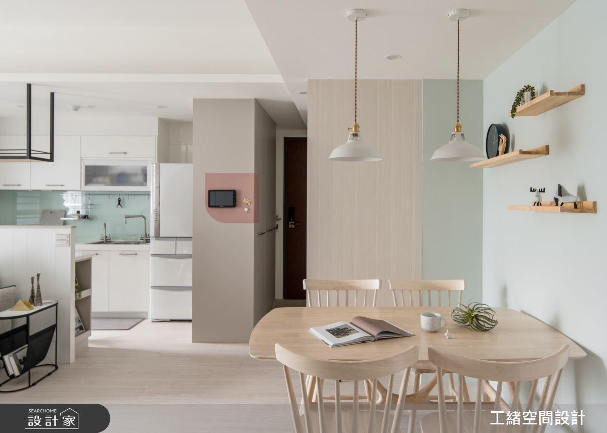 20坪新成屋(5年以下)_北歐風餐廳廚房案例圖片_工緒空間設計_工緒_16之3