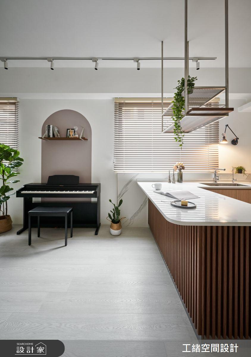 40坪新成屋(5年以下)_混搭風廚房吧檯案例圖片_工緒空間設計_工緒_17之2
