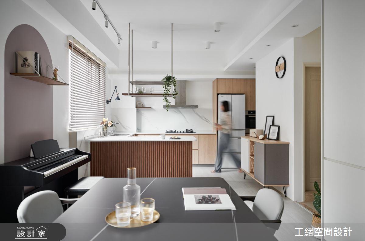 40坪新成屋(5年以下)_混搭風餐廳廚房吧檯案例圖片_工緒空間設計_工緒_17之10