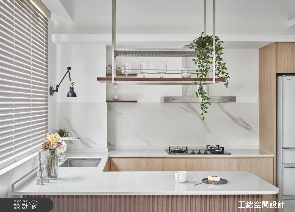 40坪新成屋(5年以下)_混搭風廚房吧檯案例圖片_工緒空間設計_工緒_17之12
