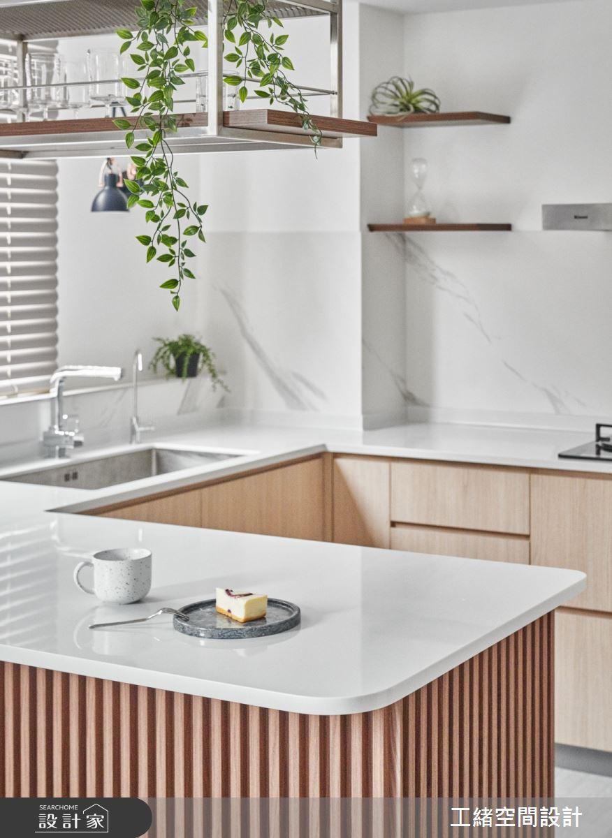 40坪新成屋(5年以下)_混搭風廚房吧檯案例圖片_工緒空間設計_工緒_17之13