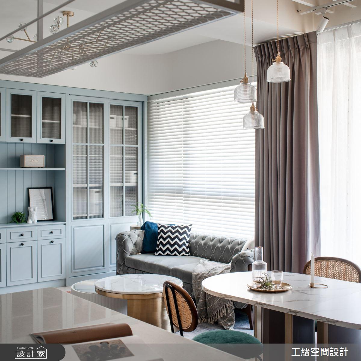 20坪新成屋(5年以下)_美式風客廳餐廳吧檯案例圖片_工緒空間設計_工緒_19之7776