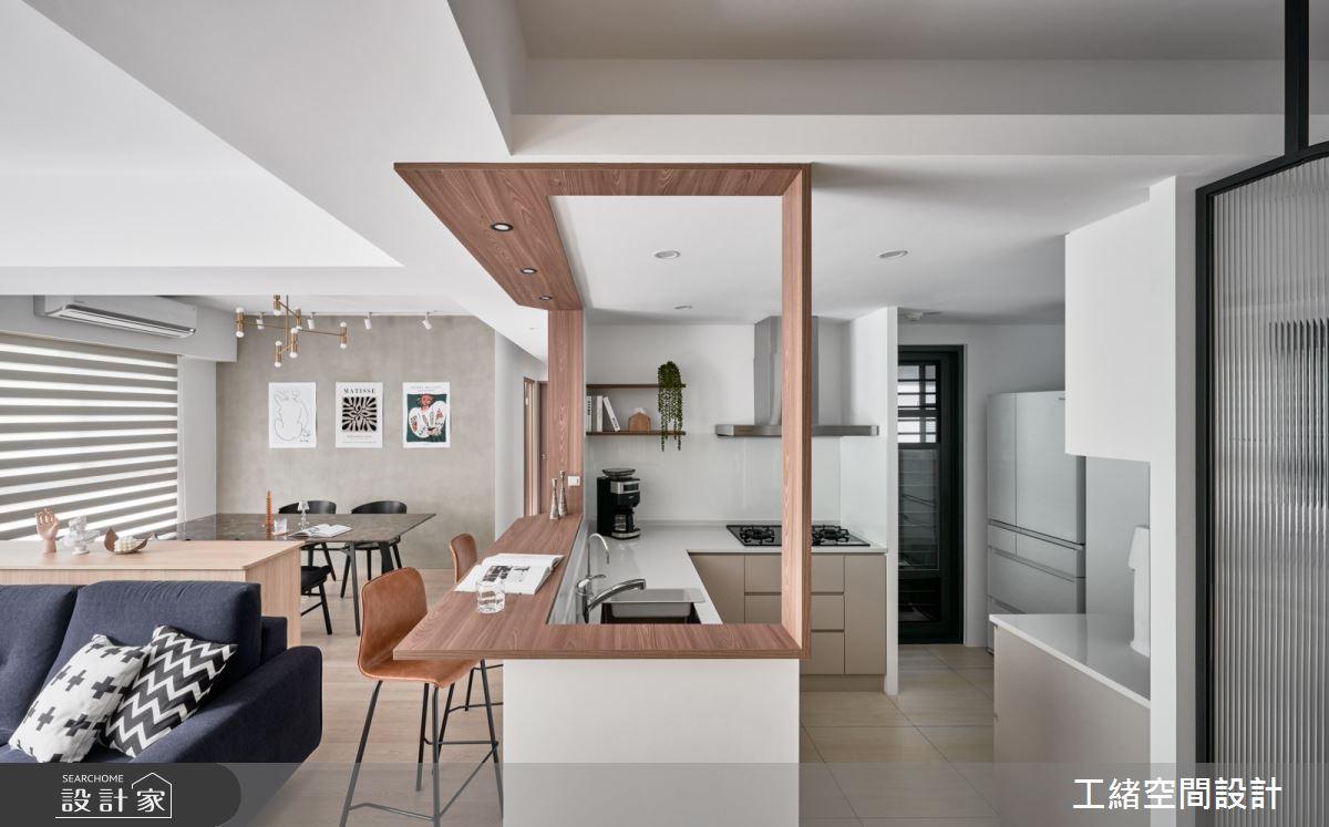 26坪預售屋_現代風客廳餐廳廚房吧檯案例圖片_工緒空間設計_工緒_20之5