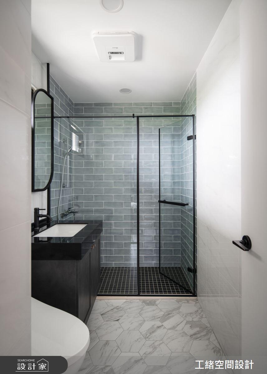 25坪新成屋(5年以下)_美式風浴室案例圖片_工緒空間設計_工緒_14之17