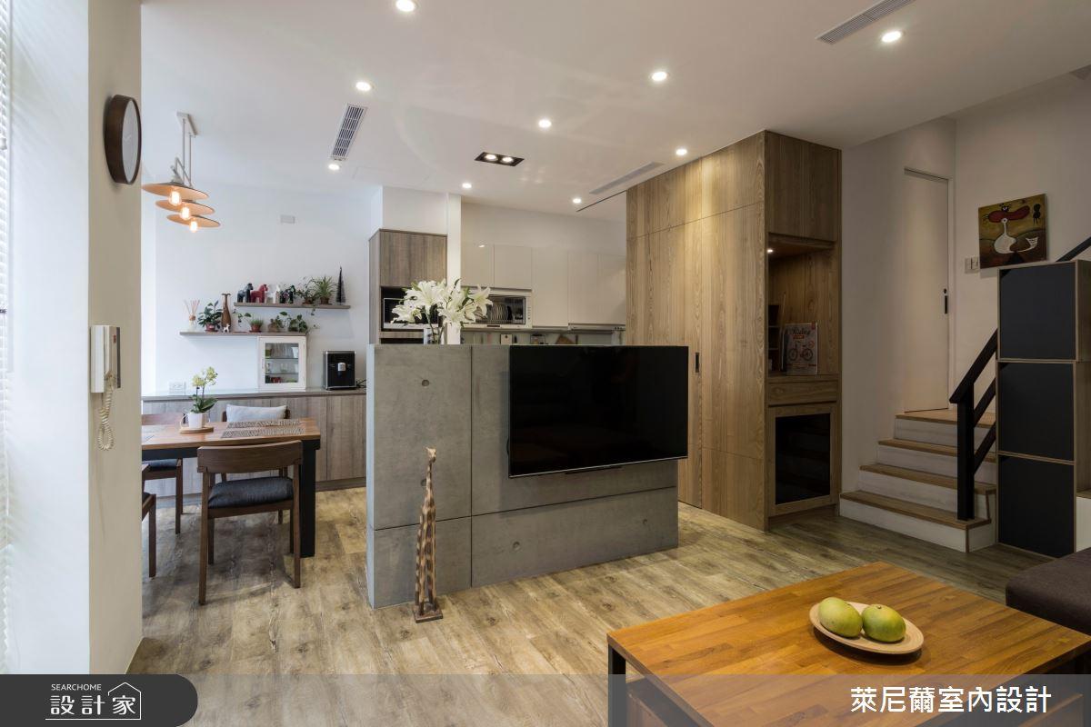 35坪中古屋(5~15年)_混搭風客廳走廊案例圖片_萊尼薾室內設計有限公司_萊尼薾_02之1