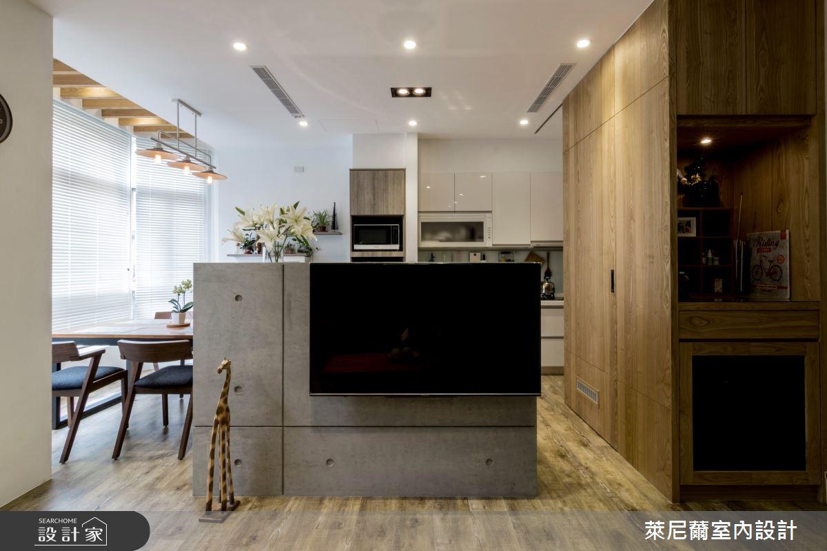 35坪中古屋(5~15年)_混搭風客廳案例圖片_萊尼薾室內設計有限公司_萊尼薾_02之2