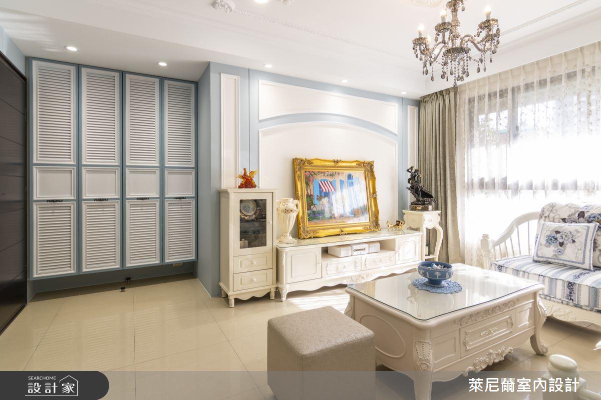 27坪新成屋(5年以下)_新古典客廳案例圖片_萊尼薾室內設計有限公司_萊尼薾_03之3