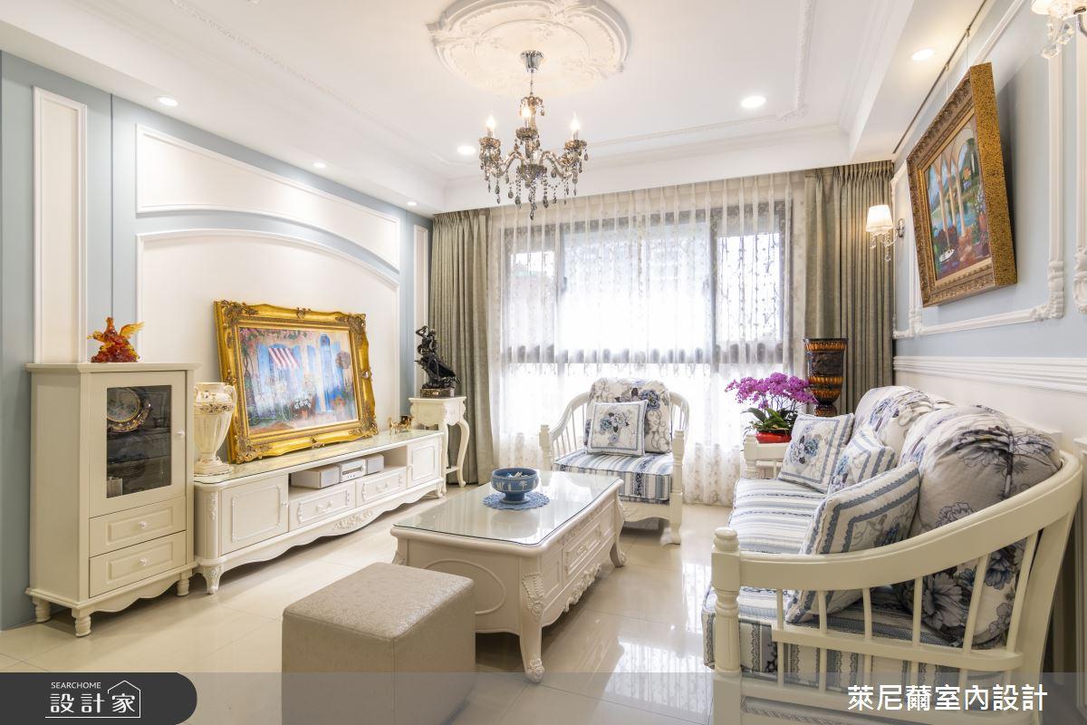 27坪新成屋(5年以下)_新古典客廳案例圖片_萊尼薾室內設計有限公司_萊尼薾_03之2