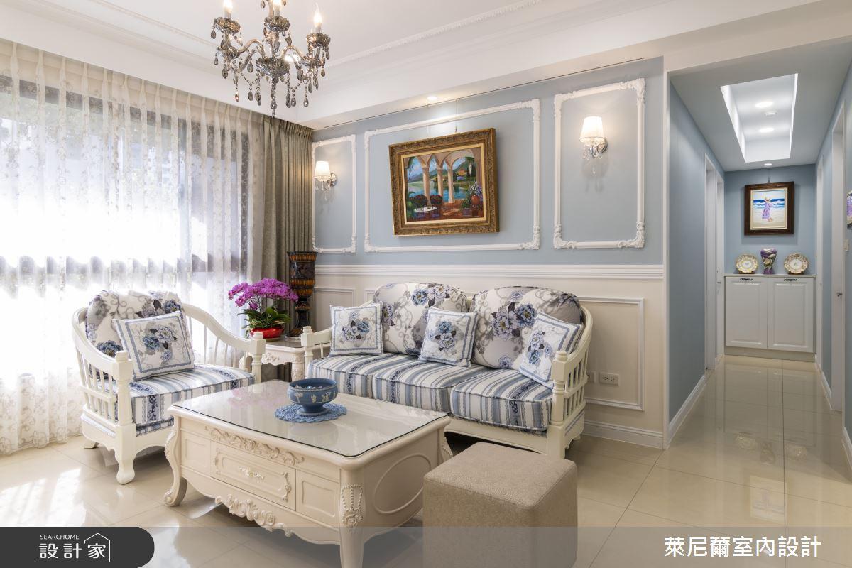 27坪新成屋(5年以下)_新古典客廳案例圖片_萊尼薾室內設計有限公司_萊尼薾_03之5