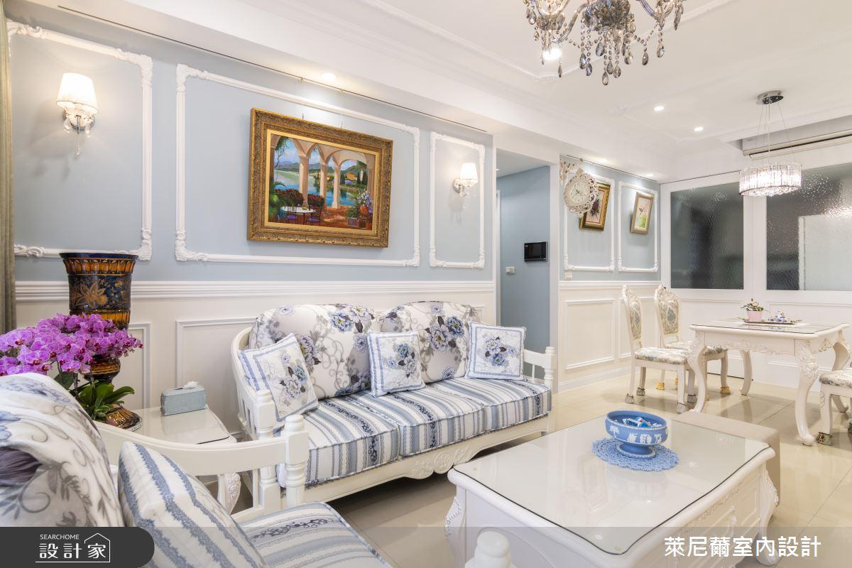 27坪新成屋(5年以下)_新古典客廳餐廳案例圖片_萊尼薾室內設計有限公司_萊尼薾_03之4