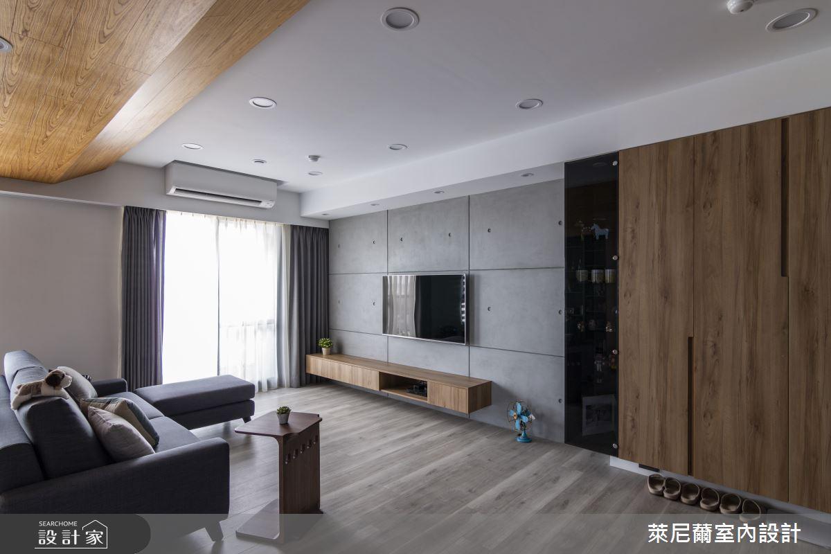 28坪預售屋_混搭風客廳案例圖片_萊尼薾室內設計有限公司_萊尼薾_05之8
