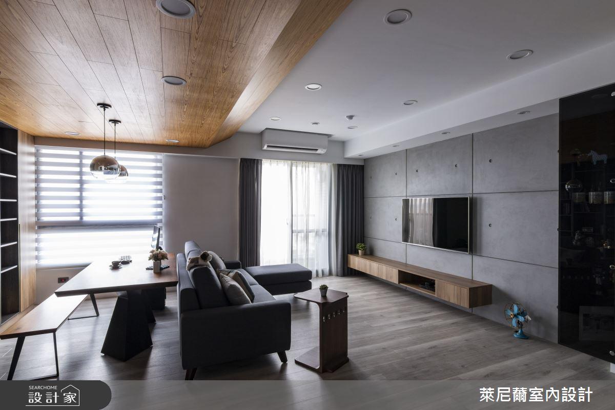 28坪預售屋_混搭風客廳書房案例圖片_萊尼薾室內設計有限公司_萊尼薾_05之7