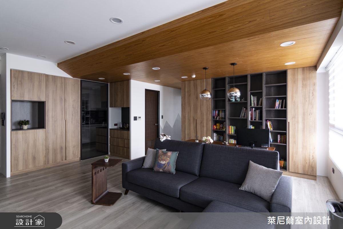 28坪預售屋_混搭風客廳書房案例圖片_萊尼薾室內設計有限公司_萊尼薾_05之3