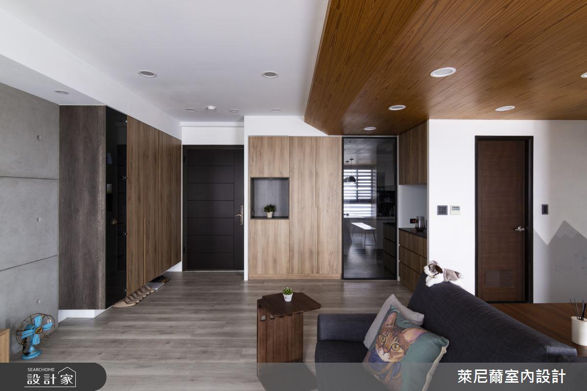 28坪預售屋_混搭風玄關餐廳案例圖片_萊尼薾室內設計有限公司_萊尼薾_05之2